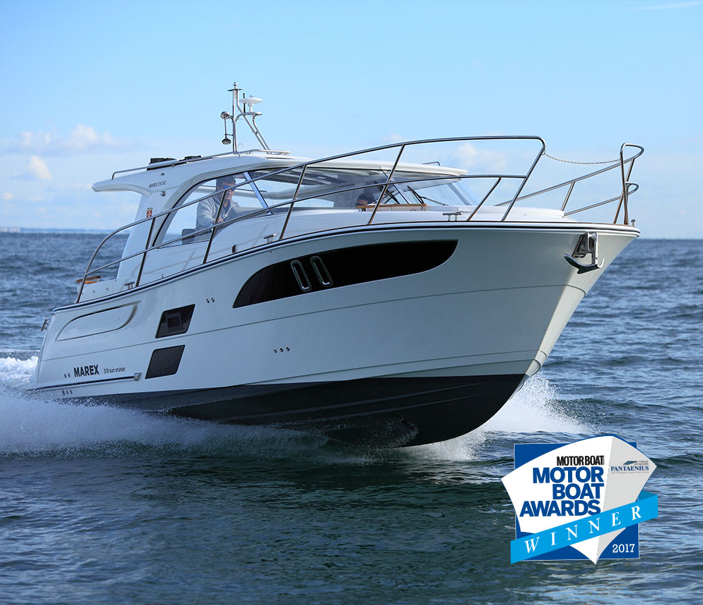 Marex 310 sun cruiser wins motorboat of the year 2017 marex for Motor boat awards 2017